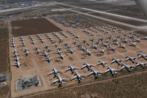 Here is where airlines are parking all those grounded planes as travel dries up