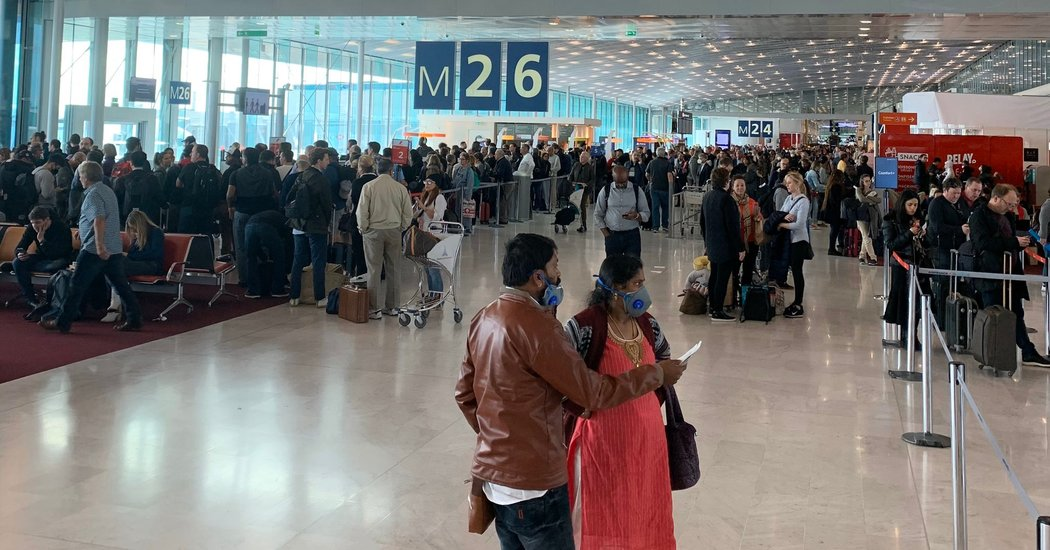 European Coronavirus Travel Ban Leads to Chaos in Paris Airport