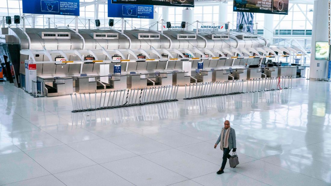 US domestic air travel sees 'virtual shutdown' as more restrictions are being discussed