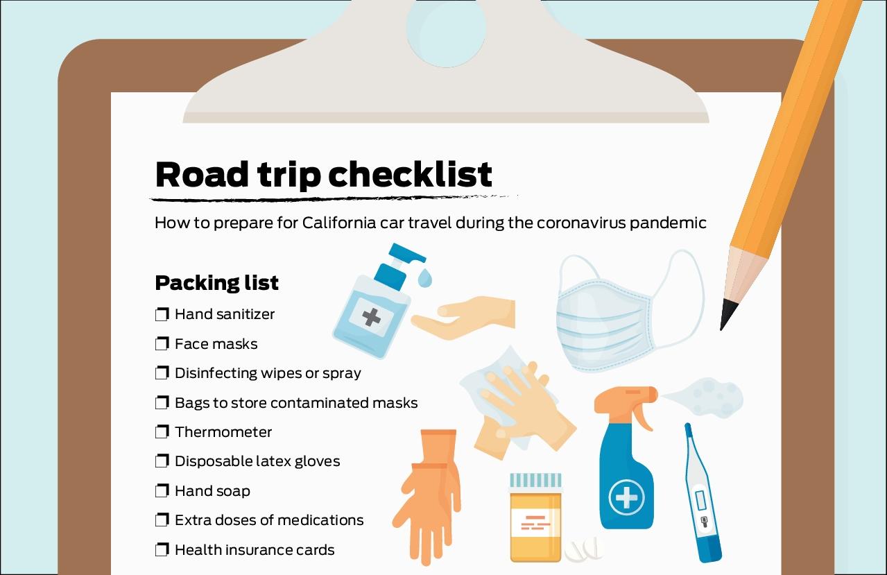 Road trip checklist: How to prep for California car travel in the coronavirus pandemic