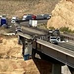 Semi crash, fire on Virgin River Gorge bridge affecting I-15 travel into Utah