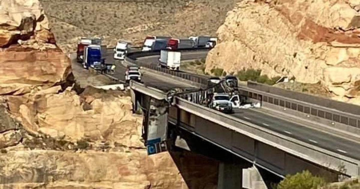 Semi crash, fire on Virgin River Gorge bridge affecting I-15 travel into Utah