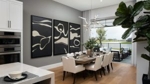 Theory Design creating modern, world travel style for Genova model at Esplanade Lake Club