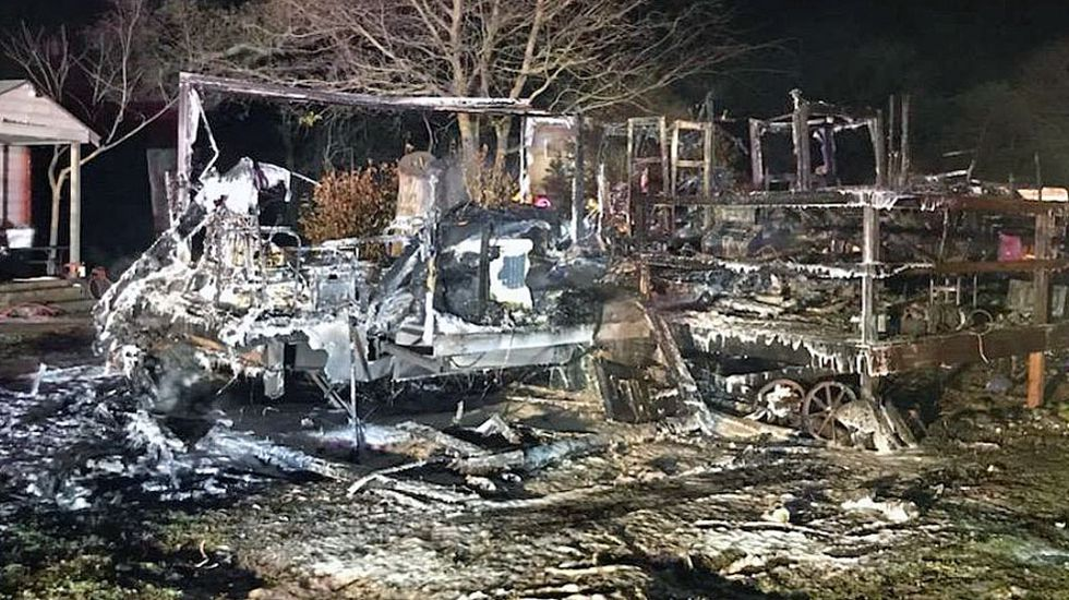 Travel trailer that served as local resident's home goes up in flames