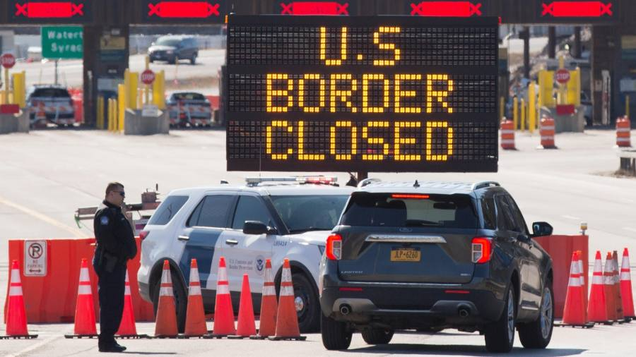 Coronavirus: US extends travel limits at borders with Canada and Mexico – as it happened