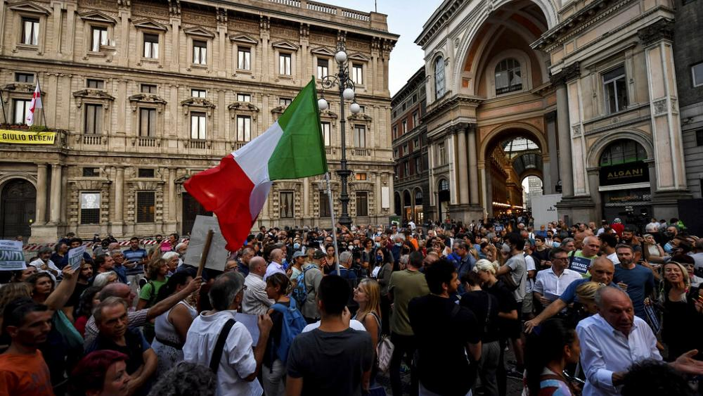 Italy introduces Green Pass for domestic travel and protests follow